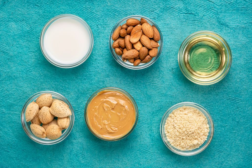 Almonds: butter, milk and oil