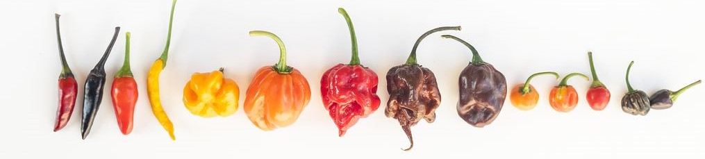 Peppers on Scoville scale