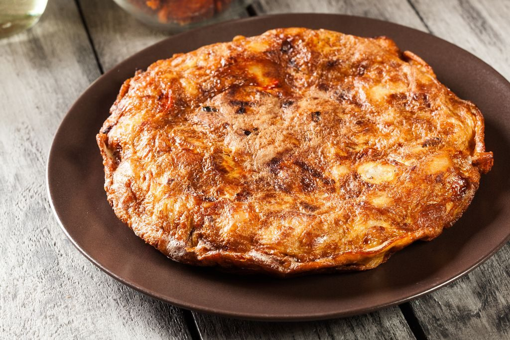 Potato and paprika tortilla