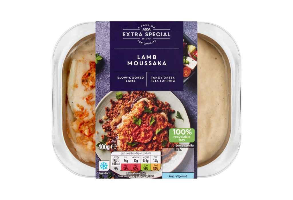 Asda recalls Asda Extra Special Lamb Moussaka due to undeclared egg