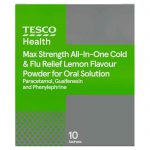 Product recall: Tesco Health Max Strength All-In-One Cold & Flu Relief Lemon Flavour is recalled due to wrong dosage advice