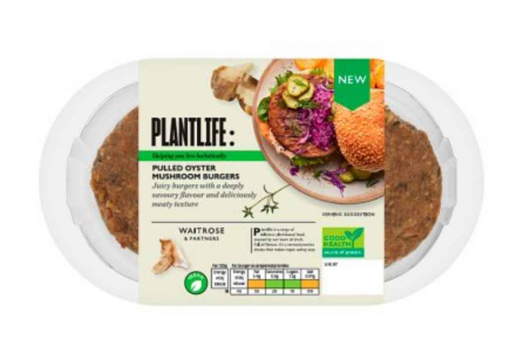 Waitrose Plantlife Pulled Oyster Mushroom Burgers are recalled due to pieces of plastic